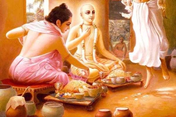 Chaotanya Mahaprabhu brahman Bhojan Donation ISKCON